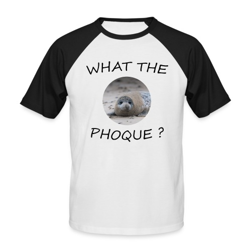 WHAT THE PHOQUE - T-shirt baseball manches courtes Homme