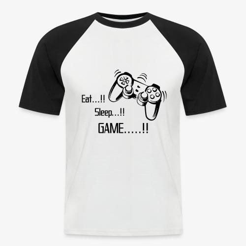 eat sleep game joy pad - Men's Baseball T-Shirt
