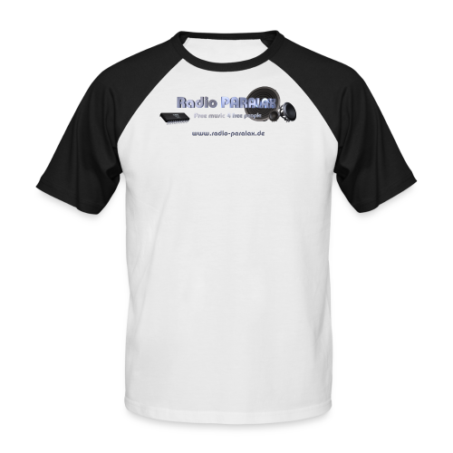 Radio PARALAX Facebook-Logo mit Webadresse - Männer Baseball-T-Shirt