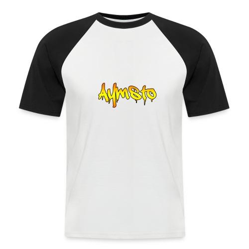 Aymsto/Degradé - T-shirt baseball manches courtes Homme