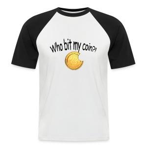 Bitcoin bite - Mannen baseballshirt korte mouw
