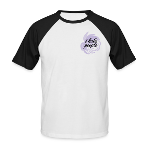 I Hate People Lilac - Men's Baseball T-Shirt