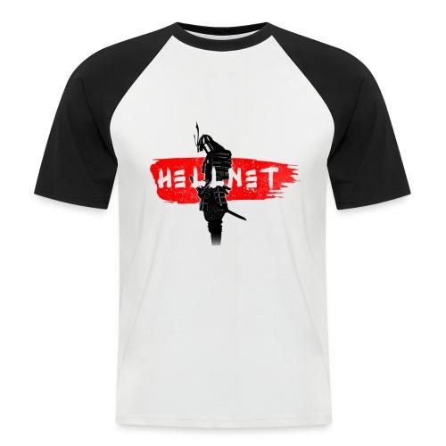 Samourai avec Hellnet en blanc - T-shirt baseball manches courtes Homme
