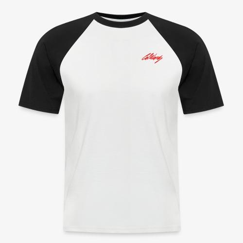 Cal Wardy Signature - Black T-Shirt - Red Font - Men's Baseball T-Shirt