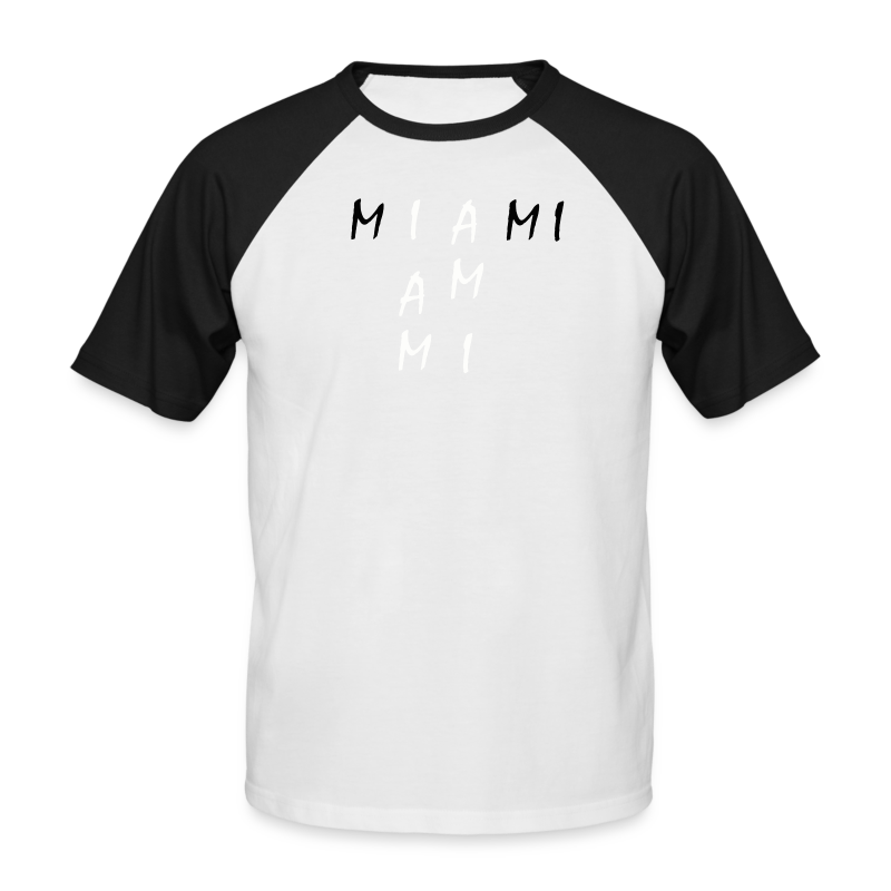 Miami Collection - Kortermet baseball skjorte for menn