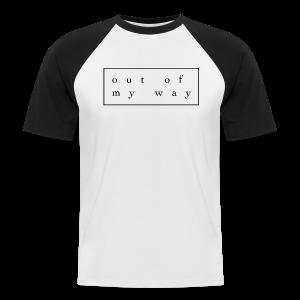 outofmyway Collection - Kortermet baseball skjorte for menn