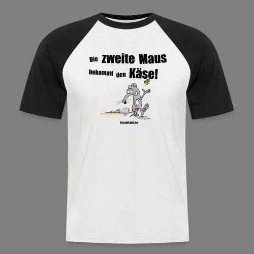 Die zweite Maus - Männer Baseball-T-Shirt