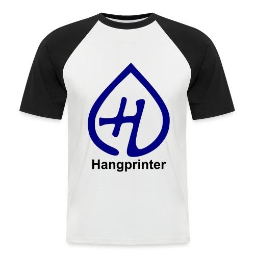Hangprinter logo and text - Kortärmad basebolltröja herr