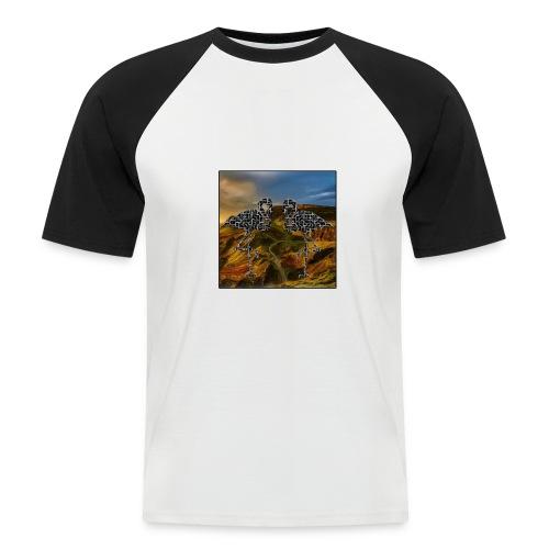 Flamingo Haluzination Bio - Männer Baseball-T-Shirt