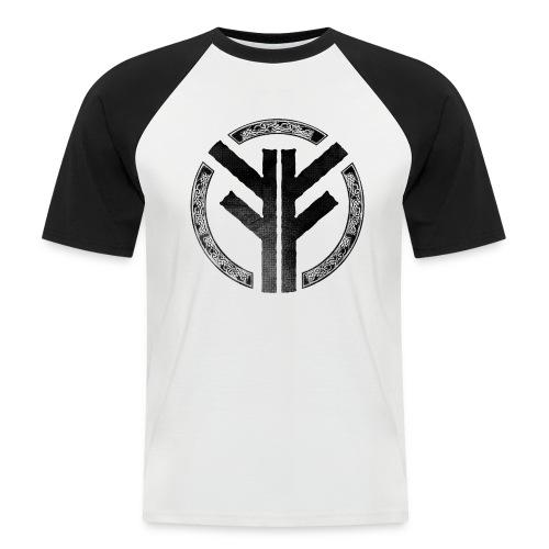 Forefather symbol black - Men's Baseball T-Shirt