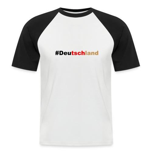 #Deutschland - Männer Baseball-T-Shirt