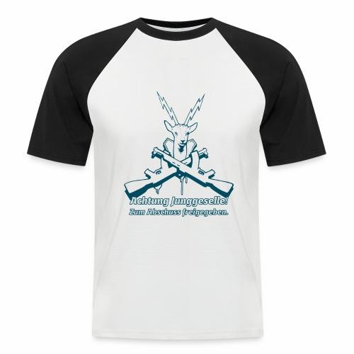 Achtung Junggeselle mono - Männer Baseball-T-Shirt