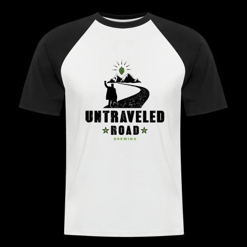 Untraveled Road Logo - schwarz/grün - Männer Baseball-T-Shirt