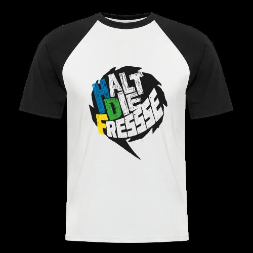 AGGRO.TV - Halt die Fresse T-Shirt - Männer Baseball-T-Shirt