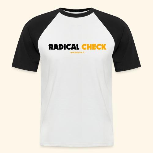 Radical Check - Maglia da baseball a manica corta da uomo