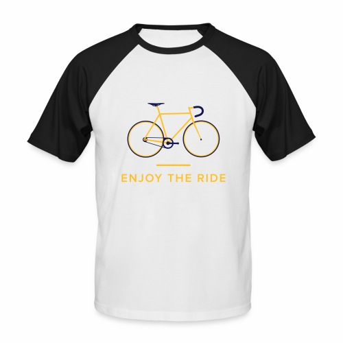 Enjoy The Ride Retro Cycling T-Shirt - Men's Baseball T-Shirt