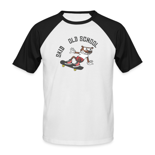 skid cartoon - T-shirt baseball manches courtes Homme