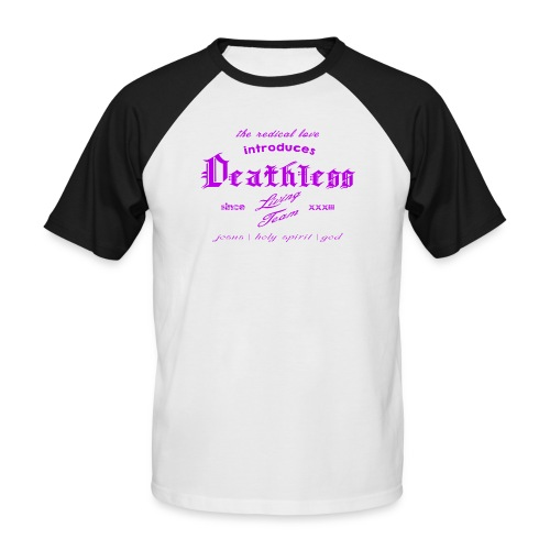 deathless living team violet - Männer Baseball-T-Shirt