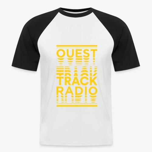 Logo Vertical Grand Jaune - T-shirt baseball manches courtes Homme