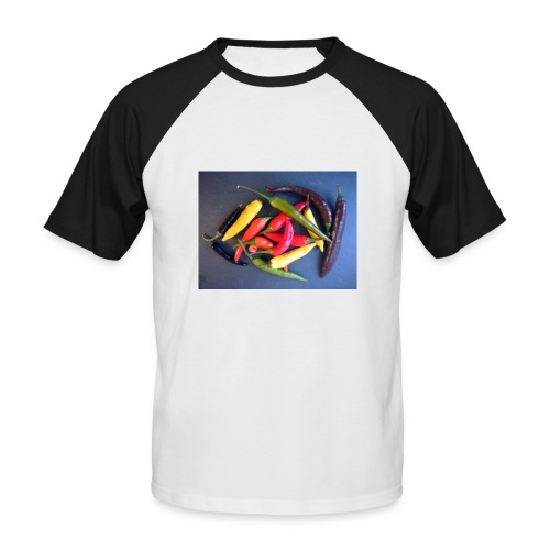 Chili bunt - Männer Baseball-T-Shirt