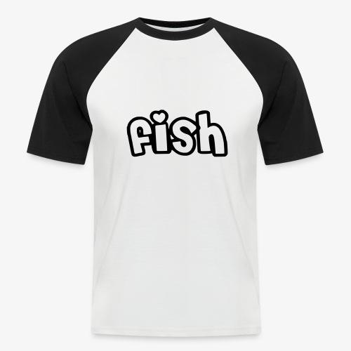 Einfaches Design - Männer Baseball-T-Shirt