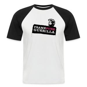 blacklogo pink - Männer Baseball-T-Shirt