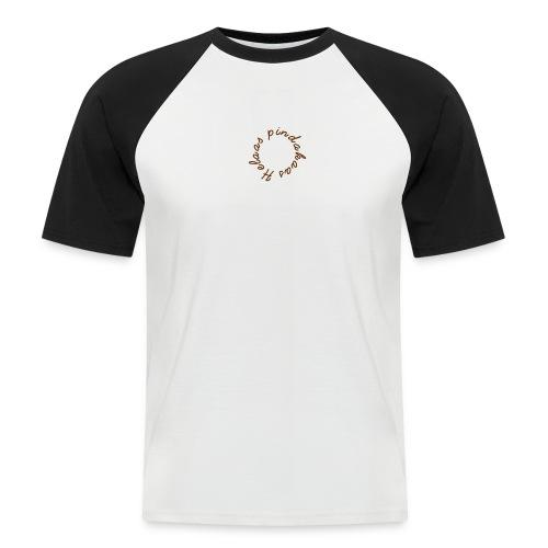 helaas pindakaas - Mannen baseballshirt korte mouw