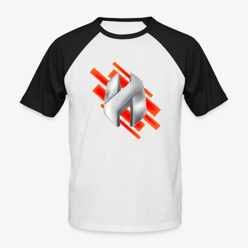 Abstract Red - Men's Baseball T-Shirt