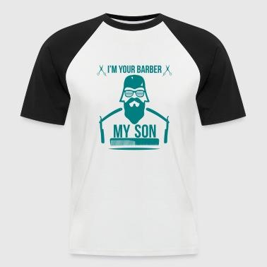 BARBER_1 - Men's Baseball T-Shirt