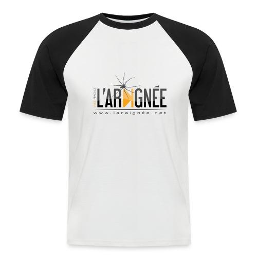 L'ARAIGNÉE, logo noir - T-shirt baseball manches courtes Homme