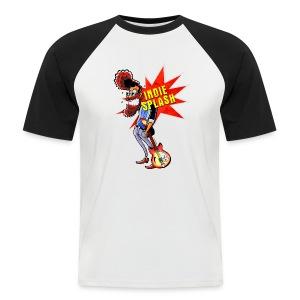 Indie Splash - Männer Baseball-T-Shirt