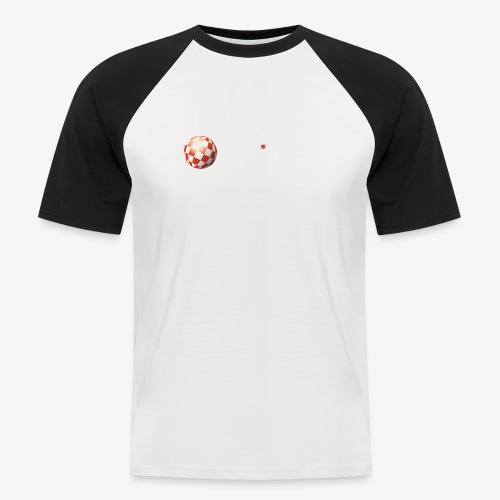 PoweredByAmigaOS white - Men's Baseball T-Shirt