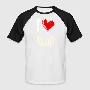 I love poland - Männer Baseball-T-Shirt