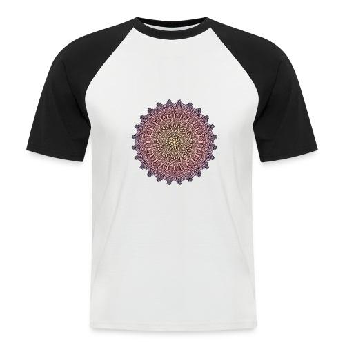 Mandala Sonnenuntergang - Männer Baseball-T-Shirt