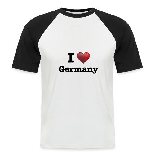 I Love Germany für echte Deutschland Fans - Männer Baseball-T-Shirt