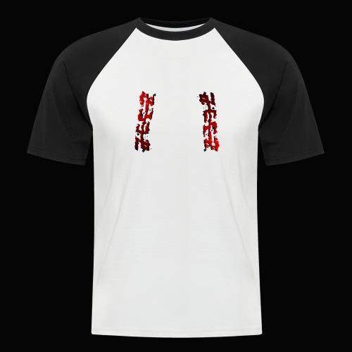 zeez rouge ombre noir abimé - T-shirt baseball manches courtes Homme