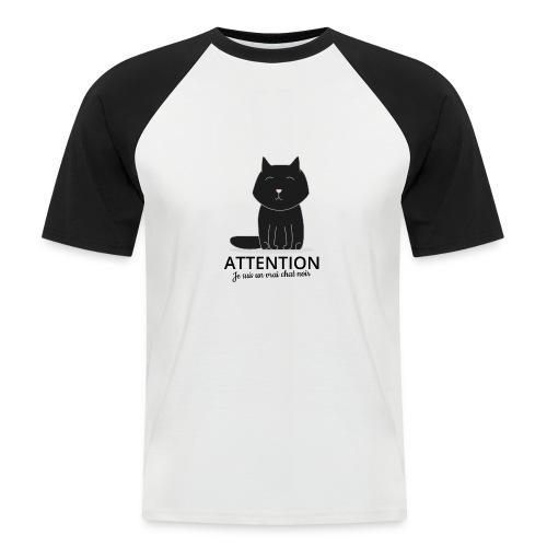 Chat noir - T-shirt baseball manches courtes Homme