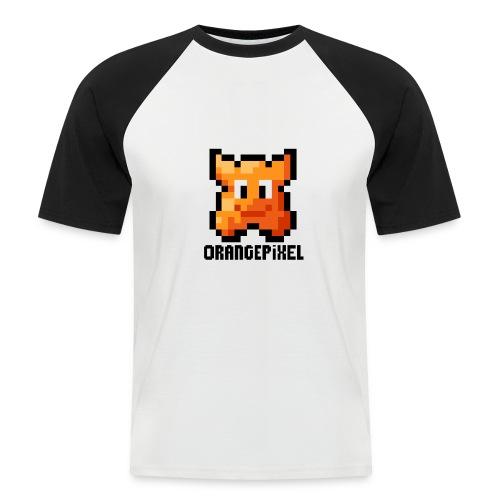 OrangePixel Logo with Black Text - Men's Baseball T-Shirt
