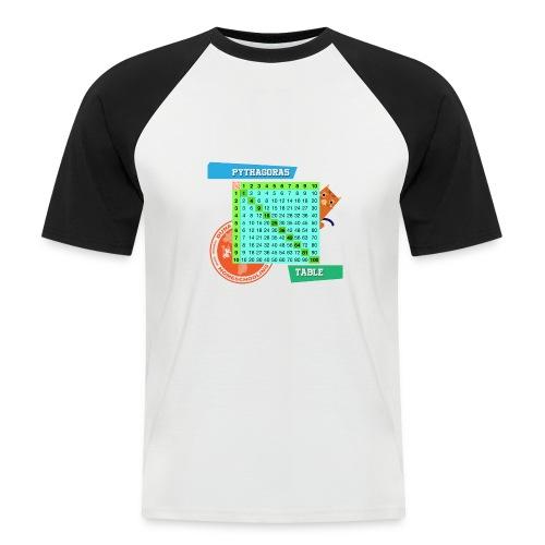 Pythagoras table - Kortermet baseball skjorte for menn