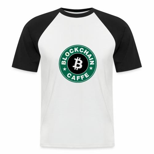 BlockChain Caffè Logo - Maglia da baseball a manica corta da uomo