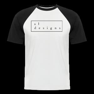 sldesigns Collection - Kortermet baseball skjorte for menn