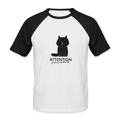 Chat noir - T-shirt baseball manches courtes Homme