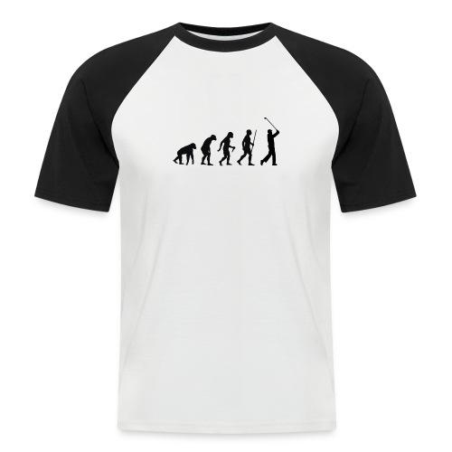 Evolution of Man Golf - Kortærmet herre-baseballshirt