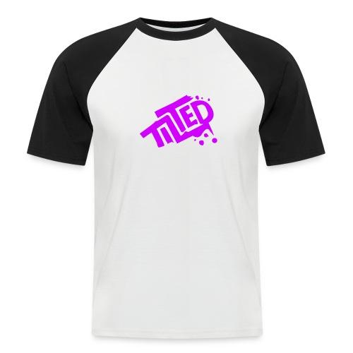 Fortnite Tilted (Pink Logo) - Men's Baseball T-Shirt