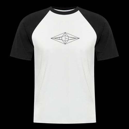 Schwarz-Weiß Meo Logo - Männer Baseball-T-Shirt