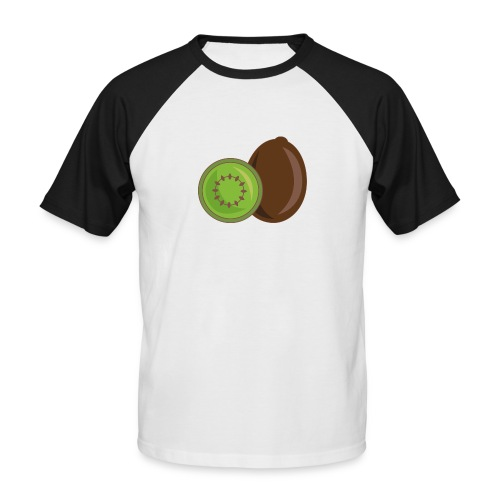 Kiwi logo - Männer Baseball-T-Shirt