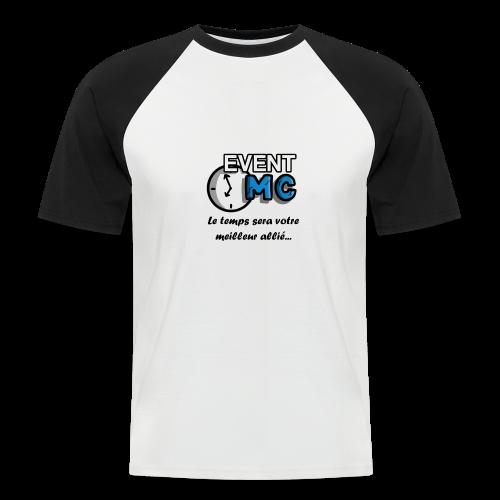 EventMCboutique - T-shirt baseball manches courtes Homme