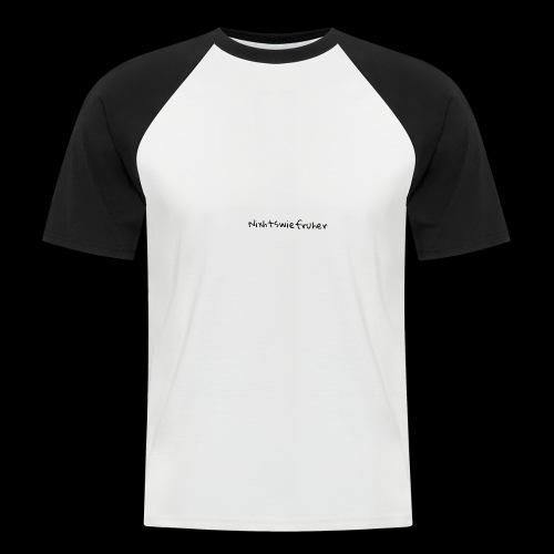Nixhtswiefruher Logo Hoddie - Männer Baseball-T-Shirt