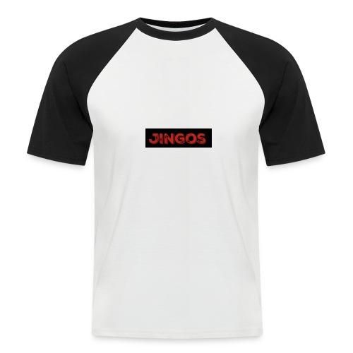 Jingos tee - Black on white - Kortærmet herre-baseballshirt