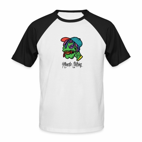 Monsta T-Shirt With Text - Men's Baseball T-Shirt